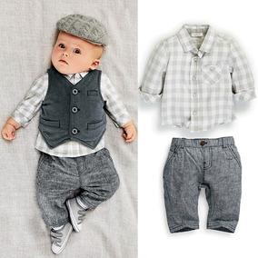 Conjunto Bebê Homenzinho Social Calça + Camisa + Colete