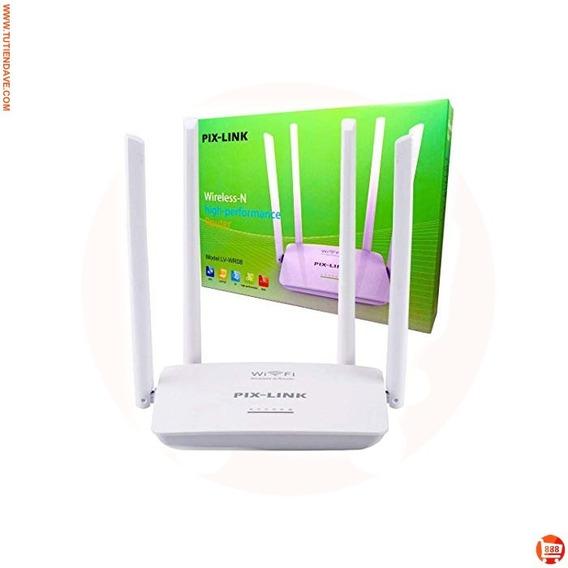 Router Inalambrico Wifi Y Repetidor 300mbps 4 Antenas Nuevo