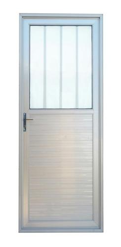 Imagen 1 de 1 de Puerta Aluminio Serie 30 Anodizado Natural 0.8x2.05mt.