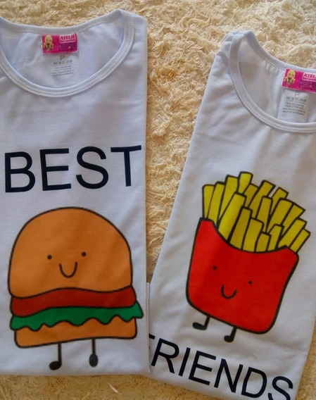 Camisetas Divertidas Personalizada Hamburguer E Batata Frita