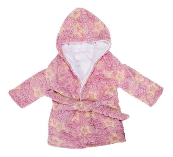 Bata P/bebé Estampada De Coral Fleece Súper Suave