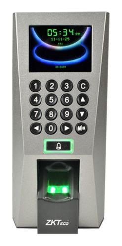 Imagen 1 de 9 de Control Acceso Biométrico Huellas Autónomo F18 Zkteco Rfid
