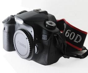 Canon 60d Só Corpo + Cartão De 4gb + Bateria E Carregador