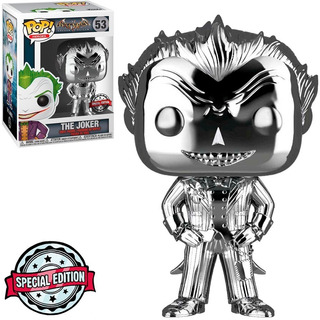 Funko Pop! Heroes #053 Arkham The Joker Chrome Excl Nortoys
