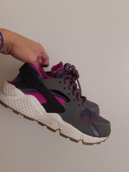 Zapatillas Huarache Nike Talle 34 Divinas Importadas 22 Cm