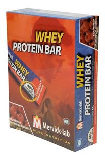 Whey Protein Bar Caja 18 Unid 65 Gr Mervick Lab Barras Proteícas