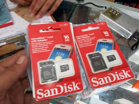 Cartão Memória Micro Sd Sandisk 16gb Kit 60 Peças