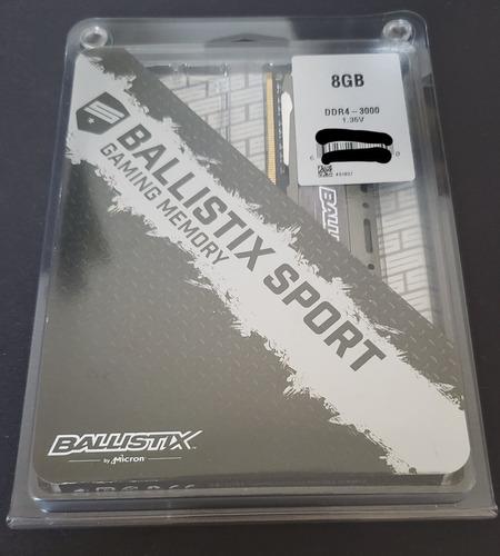 Memória Ddr4 Crucial Ballistix Sport, 8gb 3000mhz