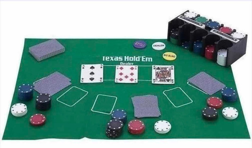 Fichas X120 Poker Texas Holdem Estuche Lujo Juego De Mesa