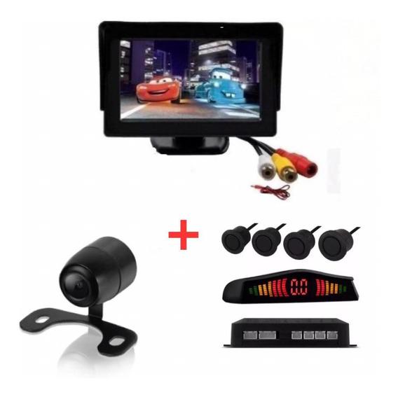 Kit Monitor Fixo Sensor Preto Fosco/embo Câmera Santa Fé