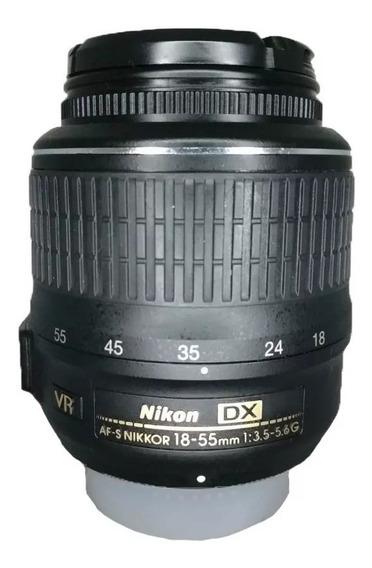 Lente Af-s Dx Nikon 18-55mm 1:3.5-5.6g Vr Usada