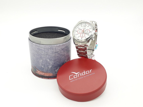 Relógio Condor Masculino Prata.