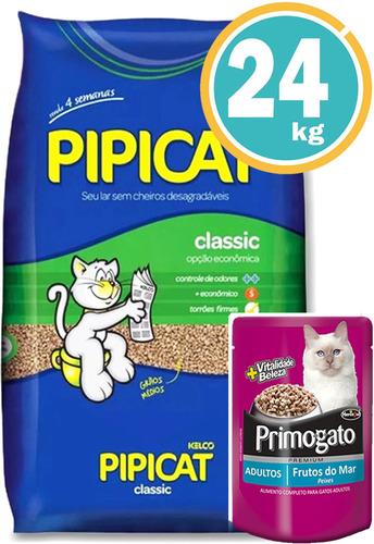Imagen 1 de 7 de Arena Higiénica Para Gato Pipicat Classic 24kg+ Envío Gratis