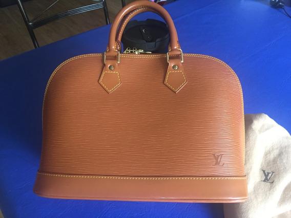 Cartera Alma Epi Gold Louis Vuitton Original Con Boleta