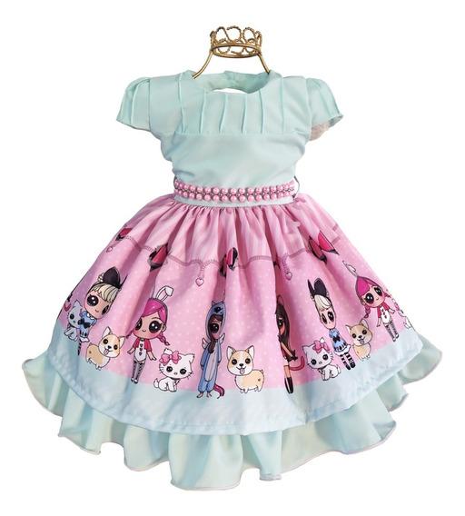 Vestido Tema Lol Surprise 4 Ao 12 Aniversário Festa Menina