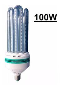 2 Lâmpada Led 100w Milho 6u E27 Branco Frio 6000k Bivolt