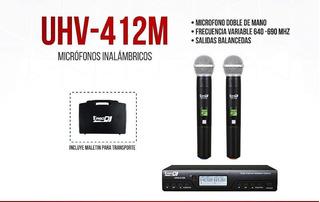 Microfonos Inalambricos Prodj Uhv412m
