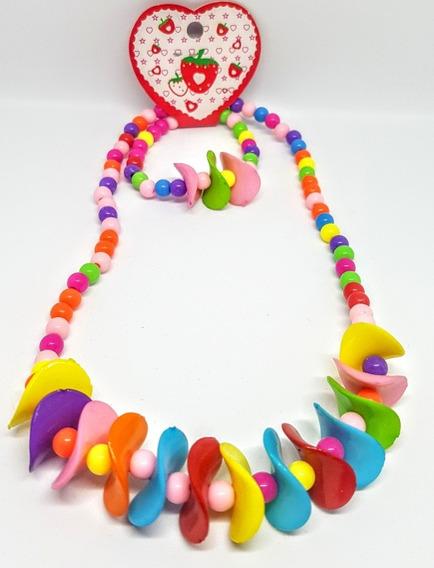 Conjunto Infantil Colar E Pulseira Super Coloridos
