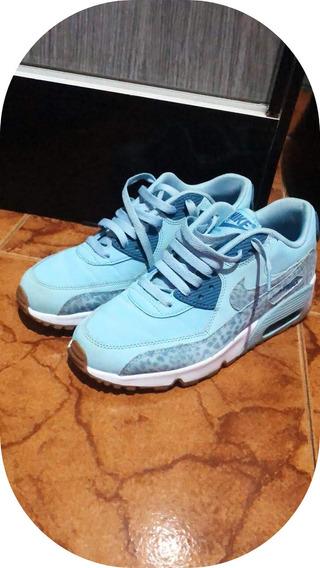 Tenis Nike Air Max Original Bonito E Barato Azul 2019