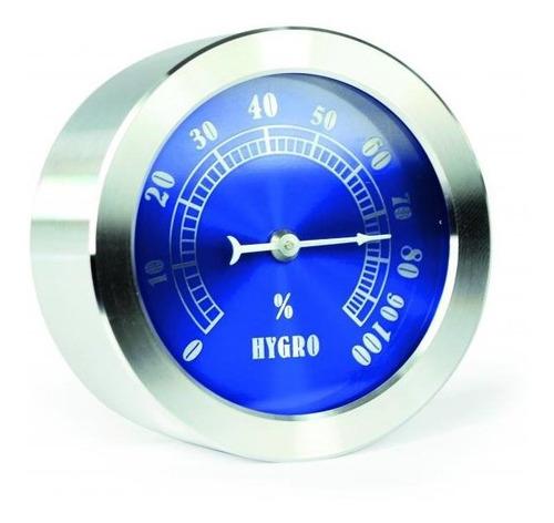 Higrômetro Bimetálico Inox Fundo Azul 0 A 100% Incoterm