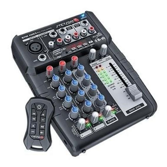 Mesa De Som Automotivo Stetsom Stm1003 3 Canais Bluetooth Fm