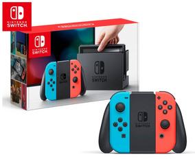 Nintendo Switch Verm./azul Lacrado+ Garantia + Nota Fiscal!!