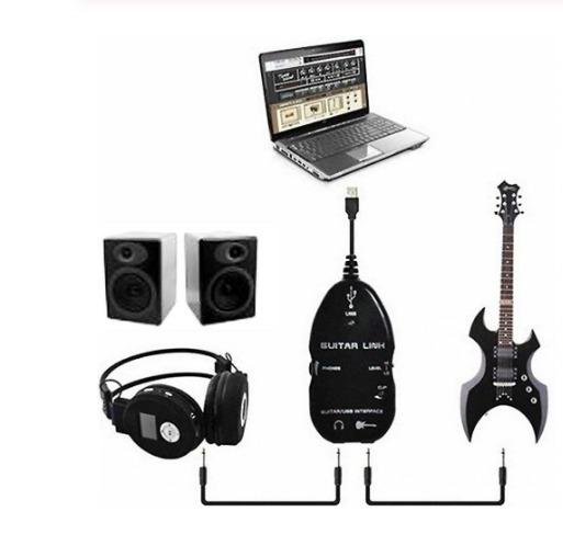 Guitar Link Interface Usb Guitarra Violão Baixo