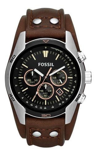 Imagen 1 de 10 de Reloj Caballero Fossil Ch2891 Color Café De Piel