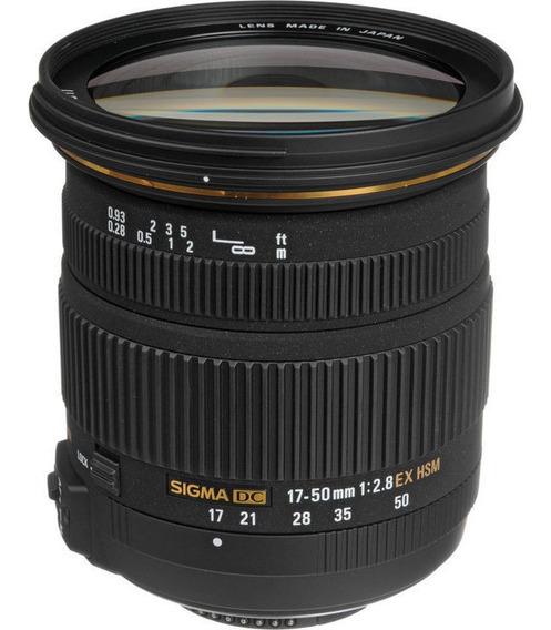 Lente Sigma 17-50mm F/2.8 Ex Dc Os Hsm P/ Câmeras Nikon Nfe