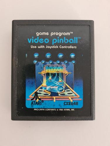 Cartucho Juego Atari Video Pinball 1981 Funciona