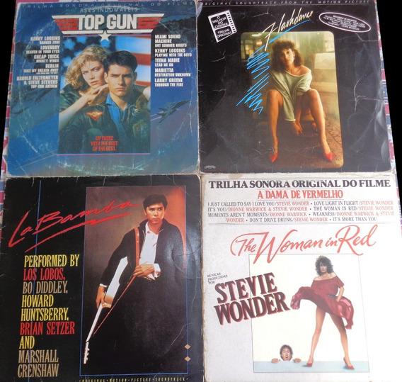 4 Lps Filmes- Top Gun, Flashdance, La Bamba, Dama Vermelho