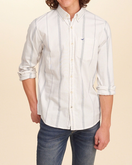 Camisa Masculina Hollister Social Casual Xadrez Camiseta Gap