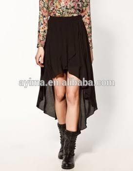 Falda Asimétrica Negra