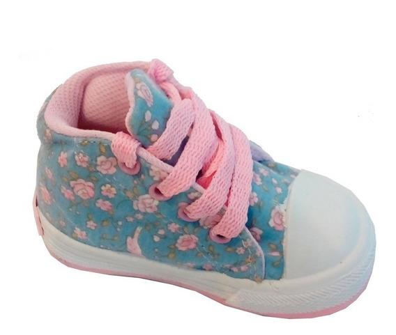 Zapatillas Botitas Lona Infantil Marca Pampero Modelo Juani