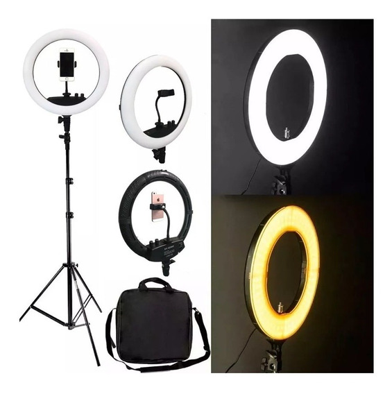 Iluminador Ring Light 240led P/ Fotografia Youtube C/ Tripé