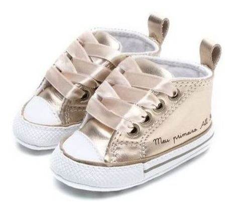 Tênis All Star Dourado Kids My First Ck03180001original C/nf