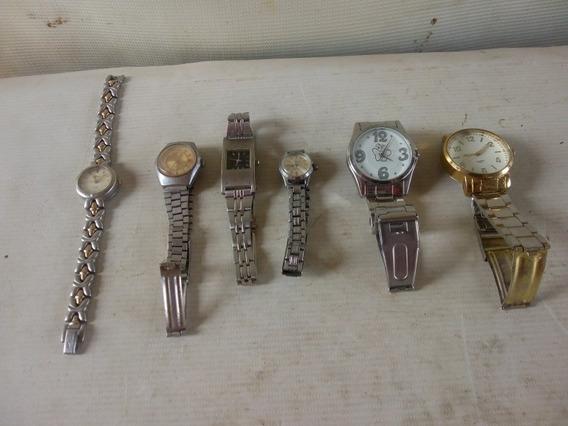 Lote Relógios Antigo 6 Peças