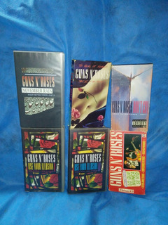 Lote X 6 Vhs Video Cassettes Guns N
