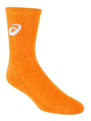 Medias Asics Voley Handball Tenis Naranja Neon Talles S / M