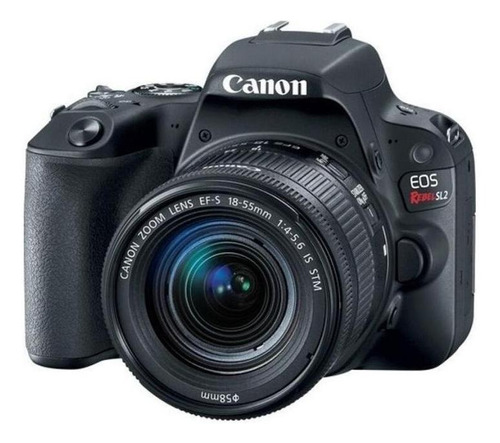 Canon EOS Rebel T7 18-55mm IS II Kit DSLR color negro