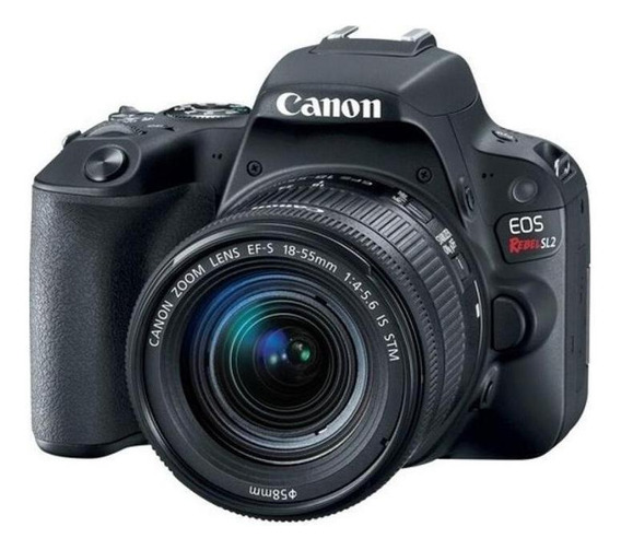 Canon EOS Rebel T7 18-55mm IS II Kit DSLR negra