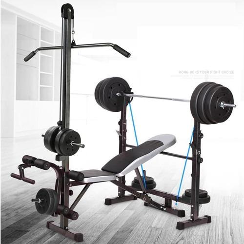 Máquina Minigimnasio Multifuncional Gym Press Banca Polea
