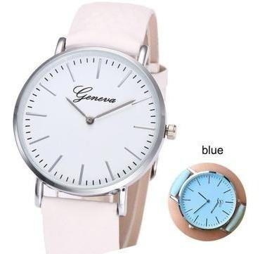 Tornasol Blanco A Azul | Reloj Para Dama