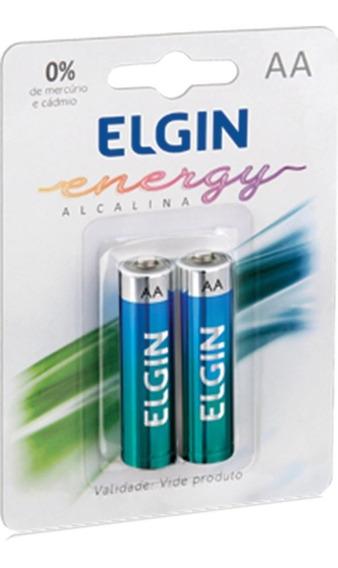 Pilha Alcalina Elgin Aa - Lr06