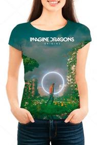 Camiseta Babylook Feminina Imagine Dragons, Música - Origins