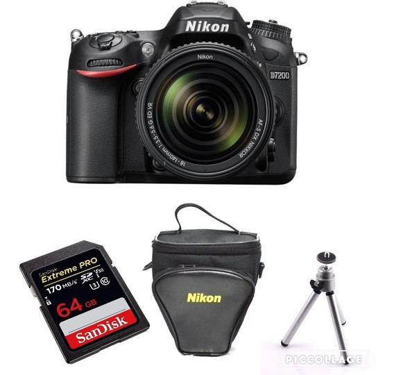 Câmera Nikon D5600 C 18-140mm + 64gb Extreme + Tripé + Bolsa