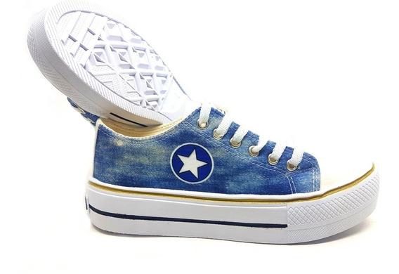 Tenis Plataforma Converse All Star Jeans