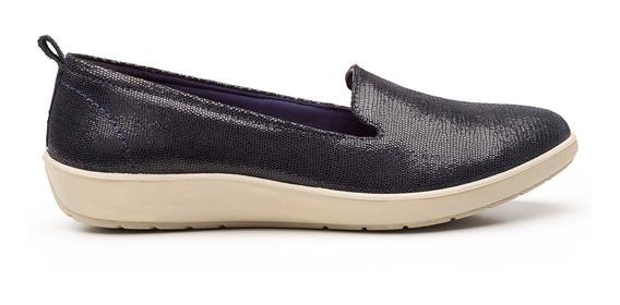 Zapatos Dama Estilo Casual Comodos 101902 Azul Marino Flexi