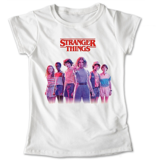Blusa Stranger Things Colores Playera Estampado Focos #573