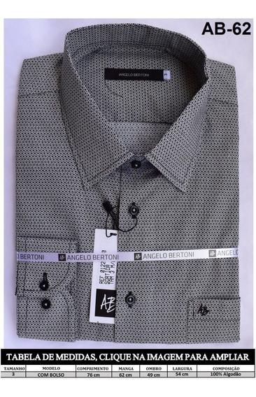 Camisa Social Masculina Angelo Bertoni Slim Marca De Famosos